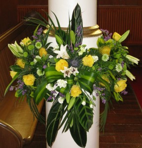 Easter flower church decoration by pen wick