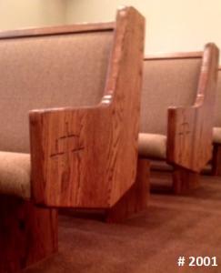 church pew style #2001
