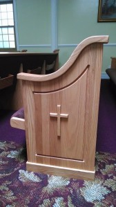church furniture crosses on church pew ends in coney island