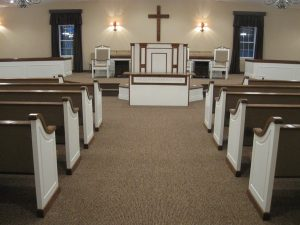 painted church pews