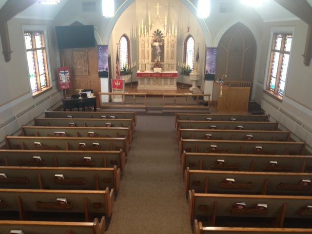 Munger, Michigan church pews