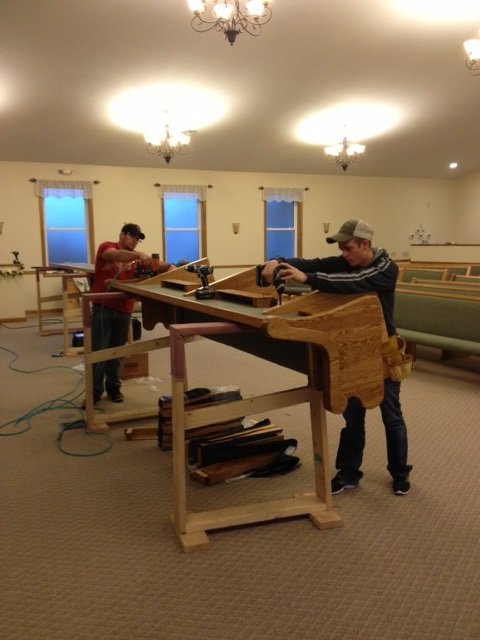 making church pews