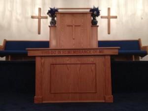 Pulpit for Flint, Michigan