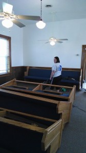 Church pews for Seneca, Mo